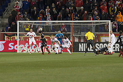 March 13, 2018 - Harrison, New Jersey, United States - Jose Alberto Garcia (34) of Club Tijuana shoots on goal during Scotiabank Concacaf Champions League quarterfinal second leg game at Red Bull Arena Red Bulls won 3 - 1 (5 - 1 on aggregate) (Credit Image: © Lev Radin/Pacific Press via ZUMA Wire)