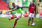 Charlton Josh Magennis  (9) warming up during the EFL Sky Bet League 1 match between Charlton Athletic and Shrewsbury Town at The Valley, London, England on 10 May 2018. Picture by Robin Pope.