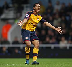 Theo Walcott of Arsenal screams