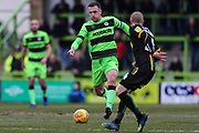 Forest Green Rovers Lee Collins(5) runs forward during the EFL Sky Bet League 2 match between Forest Green Rovers and Yeovil Town at the New Lawn, Forest Green, United Kingdom on 16 February 2019.