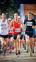 VUGHT 9de Meierijloop. Winnaar van de 10 km Michiel Vink met loopnummer 102 foto: Wim Hollemans