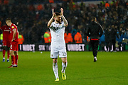 Leeds United defender Stuart Dallas (15) applauds the fans during the EFL Sky Bet Championship match between Leeds United and Bristol City at Elland Road, Leeds, England on 15 February 2020.