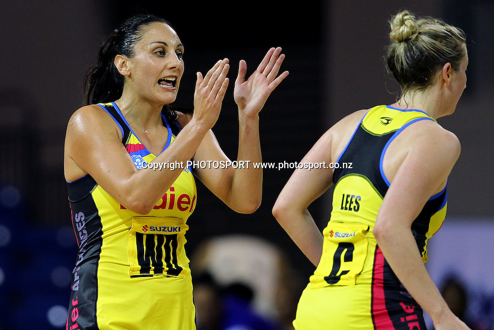 Pulse's Joline Henry reacts. ANZ Netball Championship, Northern Mystics v Central Pulse, Trusts Stadium, Auckland, New Zealand. Sunday 21st April 2013. Photo: Anthony Au-Yeung / photosport.co.nz