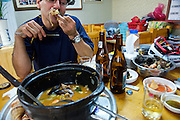 Greg McCormack eats Cuttlefish hot pot - Geoje Island - South Korea