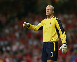 CARDIFF, WALES - Wednesday, September 8, 2004: Northern Ireland's goalkeeper Maik Taylor during the Group Six World Cup Qualifier against Wales at the Millennium Stadium. (Pic by David Rawcliffe/Propaganda)