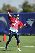 Quarterback Doug Flutie during workouts at the San Diego Chargers summer training camp at the Home Depot National Training Center in Carson, CA on 08/04/2004. ©Paul Anthony Spinelli