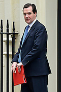 &copy; Licensed to London News Pictures. 11/06/2013. westminster, UK. George Osborne, Conservative MP, Chancellor of the Exchequer<br /> .  Ministers on Downing Street today 11th June 2013. Photo credit : Stephen Simpson/LNP