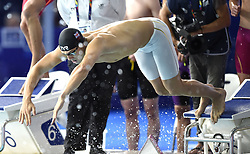 Great Britain's James Guy competes in the Men's 4 x 200m Freestyle Relay Final during day four of the 2018 European Championships at the Tollcross International Swimming Centre, Glasgow.