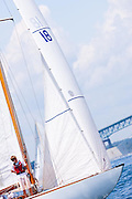 Angelita sailing in the Robert H. Tiedemann Classic Yachting Weekend race 1.