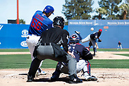 March 18, 2018 - Las Vegas, NV, U.S. - LAS VEGAS, NV - MARCH 18: Ryan Court (66) of the Cubs hits a home run off of Stephen Fife (69) of the Indians during a game between the Chicago Cubs and Cleveland Indians as part of Big League Weekend on March 18, 2018 at Cashman Field in Las Vegas, Nevada. (Photo by Jeff Speer/Icon Sportswire) (Credit Image: © Jeff Speer/Icon SMI via ZUMA Press)