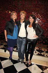 Left to right, CAROLINE FEREDAY, RICK PARFIT and LIZ CUNDY at a party to celebrate the 10th Anniversary of Claridge's Bar, Claridge's Hotel, Brook Street, London on 11th November 2008.