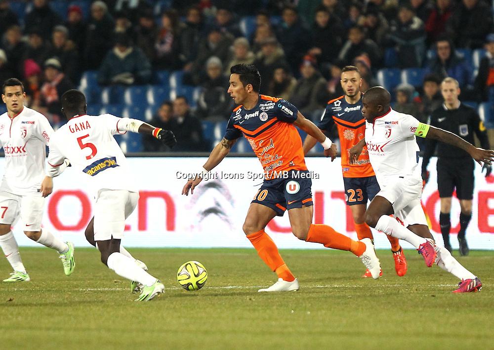Lucas BARRIOS - 07.02.2015 - Montpellier / Lille - 24eme journee de Ligue 1<br /> Photo : Andre Delon / Icon Sport