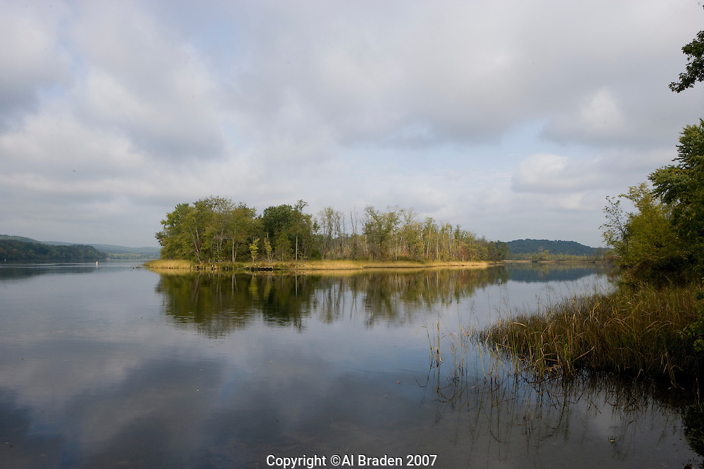Morning clouds at entrance to Salmon Cove on Connecticut River, East Haddam, CT