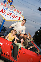 Friends having fun in Las Vegas, Nevada, USA