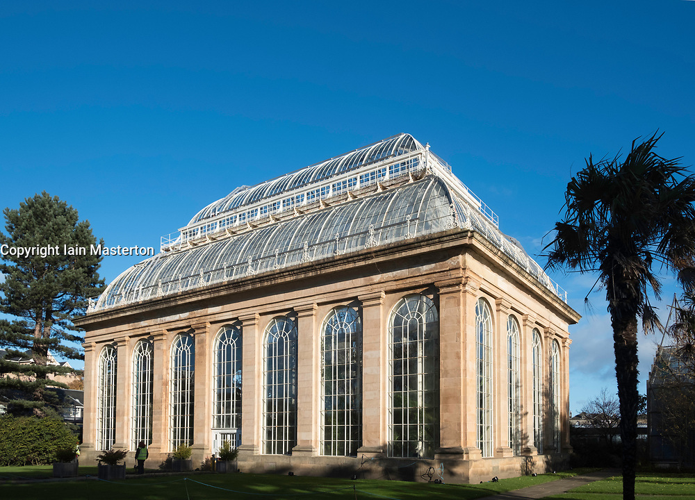 The Palm House at Royal Botanic Gardens in Edinburgh, Scotland, United Kingdom