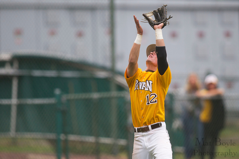 Rowan University Sophomore  Infielder/Outfielder Mark Benak (12); Rowan University Baseball hosts Ramapo College in the 2nd round of the NJAC tournament on Thursday May 3, 2012 in Glassboro, NJ. (photo / Mat Boyle)