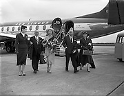 08/06/1957<br /> 06/08/1957<br /> 08 June 1957<br /> <br /> Herbert Wilcox and Anna Neagle arriving at Dublin Airport<br /> <br /> <br /> Dame Anna Neagle, DBE (20/10/1904 – 03/06/1986), born Florence Marjorie Robertson, was a popular British stage and motion picture actress and singer.<br />