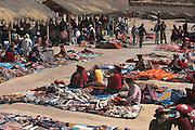 Sunday market in Chinchero, Peru