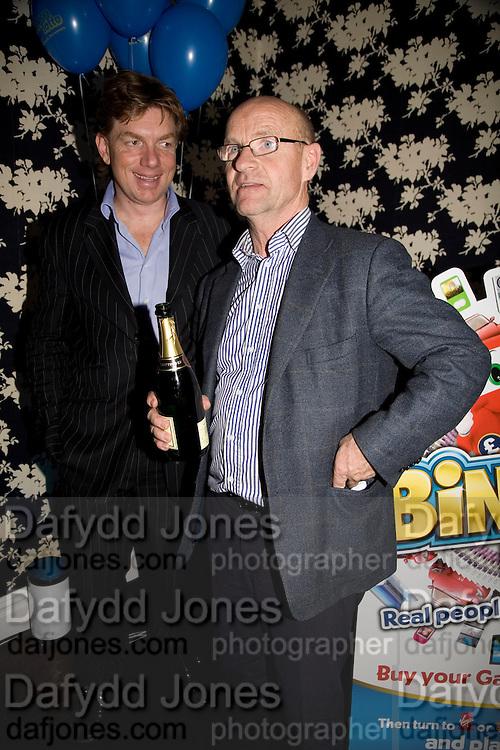 Nick Bullen and Gert Eklund, Bingo Lotto launch party. Soho Hotel Richmond Mews. London. 29 February 2008.  *** Local Caption *** -DO NOT ARCHIVE-© Copyright Photograph by Dafydd Jones. 248 Clapham Rd. London SW9 0PZ. Tel 0207 820 0771. www.dafjones.com.