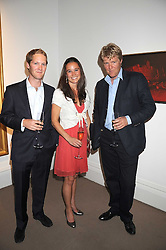 EARL (George) PERCY heir to the 12th Duke of Northumberland, PIPPA MIDDLETON and LORD JAMES PERCY at the annual Sotheby's Summer Party held at their auction rooms 34-35 New Bond Street, London W1 on 19th June 2008.<br />
