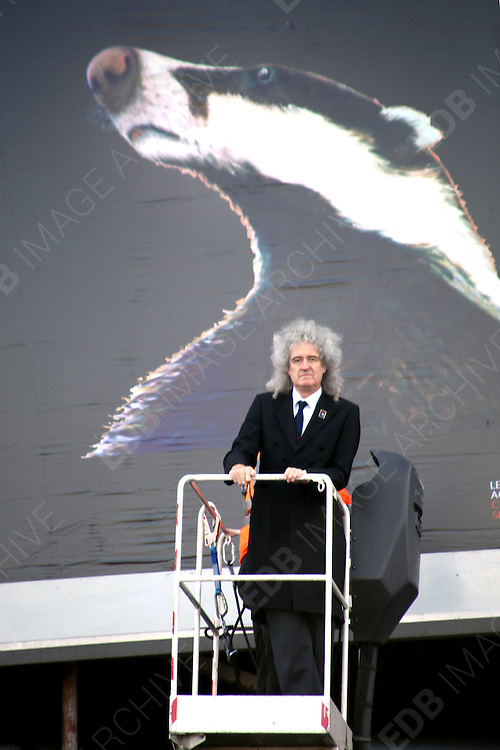19.SEPTEMBER.2012. LONDON<br /> <br /> BRIAN MAY LAUNCHES 'TEAM BADGER' IN LONDON<br /> <br /> BYLINE: EDBIMAGEARCHIVE.CO.UK<br /> <br /> *THIS IMAGE IS STRICTLY FOR UK NEWSPAPERS AND MAGAZINES ONLY*<br /> *FOR WORLD WIDE SALES AND WEB USE PLEASE CONTACT EDBIMAGEARCHIVE - 0208 954 5968*