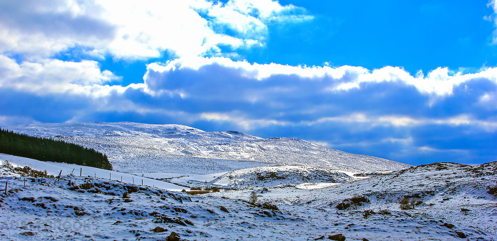 View of Slieve Gullion from its southern slope that I captured in the unexpected snow we had at the end of March 2013