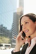 Businesswoman Phoning