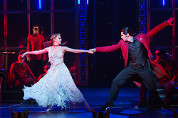 "© Licensed to London News Pictures. 04/12/2015. London, UK. Cordelia Braithwaite as Aurora and Liam Mower as Count Lilac. Matthew Bourne's ""Sleeping Beauty"", a Gothic Romance, is performed at Sadler's Wells from 1 Dec 2015 - 24 Jan 2016. Photo credit: Bettina Strenske/LNP"