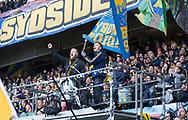 FODBOLD: Stemning på Sydsiden under kampen i ALKA Superligaen mellem Brøndby IF og FC København den 17. april 2017 på Brøndby Stadion. Foto: Claus Birch