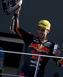 November 12, 2017 - Valencia, Valencia, Spain - 44 Miguel Oliveira (Por) Red Bull Ktm Ajo Ktm during the race day of the Gran Premio Motul de la Comunitat Valenciana, Circuit of Ricardo Tormo,Valencia, Spain. Sunday 12th of november 2017. (Credit Image: © Jose Breton/NurPhoto via ZUMA Press)