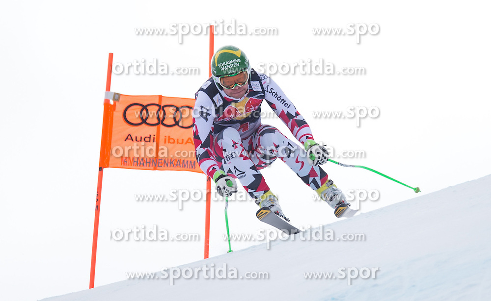 19.01.2016, Streif, Kitzbuehel, AUT, FIS Weltcup Ski Alpin, Kitzbuehel, 1. Abfahrtstraining, Herren, im Bild Klaus Kroell (AUT) // Klaus Kroell of Austria in action during 1st Training of the men's Downhill Race of Kitzbuehel FIS Ski Alpine World Cup at the Streif in Kitzbuehel, Austria on 2016/01/19. EXPA Pictures © 2016, PhotoCredit: EXPA/ Johann Groder