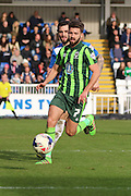 George Francomb midfielder for AFC Wimbledon (7) during the Sky Bet League 2 match between Hartlepool United and AFC Wimbledon at Victoria Park, Hartlepool, England on 25 March 2016. Photo by Stuart Butcher.