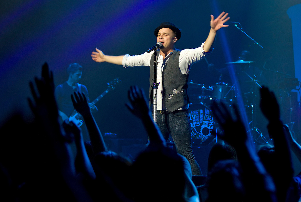 Olly Murs, English singer-songwriter and runner-up of the sixth series of the British version of the X Factor, performing live in concert, ASB Theatre, Auckland, New Zealand, Thursday, November 07, 2013.   Credit: SNPA / David Rowland