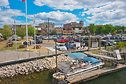Wharf area and park on Lake of the Woods<br />