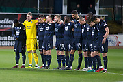 31st October 2018, Kilmac Stadium, Dundee, Scotland; Ladbrokes Premiership football, Dundee v Celtic; Dundee during the minute silence for the victims of the Leicester helicopter crash