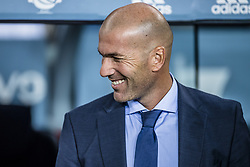 August 13, 2017 - Barcelona, Catalonia, Spain - Real Madrid head coach ZINEDINE ZIDANE prior to the Spanish Super Cup Final 1st leg between FC Barcelona and Real Madrid at the Camp Nou stadium in Barcelona. (Credit Image: © Matthias Oesterle via ZUMA Wire)