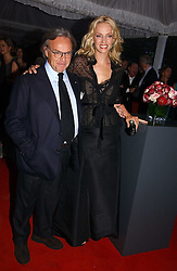 Actress UMA THURMAN and DIEGO DELLA VALLE at a party to celebrate the opening of Roger Vivier in London held at The Orangery, Kensington Palace, London on 10th May 2006.<br />