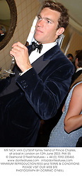 MR NICK VAN CUTSEM family friend of Prince Charles, at a ball in London on 12th June 2003.PKK 55
