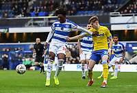 Football - 2018 / 2019 FA Cup - Third Round: Queens Park Rangers vs. Leeds United<br /> <br /> Queens Park Rangers' Ebere Eze holds off the challenge from Leeds United's Tom Pearce, at Loftus Road.<br /> <br /> COLORSPORT/ASHLEY WESTERN