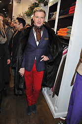 HENRY CONWAY at the launch party for the Vicomte A boutique in London at 113 King's Road, London SW3 on 13th December 2012.