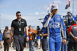 November 18, 2017 - Homestead, Florida, United States of America - November 18, 2017 - Homestead, Florida, USA: Trevor Bayne (6) hangs out in the garage during practice for the Ford EcoBoost 400 at Homestead-Miami Speedway in Homestead, Florida. (Credit Image: © Chris Owens Asp Inc/ASP via ZUMA Wire)