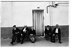 Urrea de Gaen, Teruel,Spain.<br /> Some old people talking in the street.&copy;Carmen Secanella