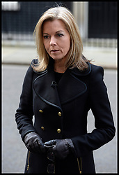 ITV news presenter Mary Nightingale  reporting on the  death of Baroness Thatcher, outside No10 Downing Street, London, UK, Monday 8 April, 2013. Photo By Andrew Parsons / i-lmages.