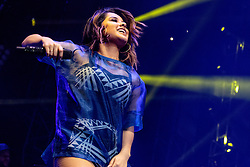 LOS ANGELES, CA - JAN 24: American singer, songwriter, rapper, and actress Becky G performs onstage during Calibash 2016 held at Staples Center on January 24, 2016 in Los Angeles, California. CALIBASH 2016, hosted by KXOL Mega 96.3FM, La Musica and produced by AEG Live and Latin Events. Byline, credit, TV usage, web usage or linkback must read SILVEXPHOTO.COM. Failure to byline correctly will incur double the agreed fee. Tel: +1 714 504 6870.