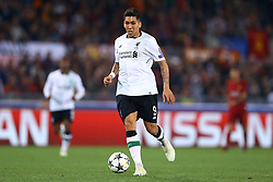 May 2, 2018 - Rome, Lazio, Italy - AS Roma v FC Liverpool - Champions League semi-final second leg.Roberto Firmino of Liverpool at Olimpico Stadium in Rome, Italy on May 02, 2018. (Credit Image: © Matteo Ciambelli/NurPhoto via ZUMA Press)