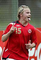 Fotball<br /> Landskamp G15<br /> Sverige v Norge 0:3<br /> Arvika<br /> 23.09.2010<br /> Foto: Morten Olsen, Digitalsport<br /> <br /> Herman Sørby Stengel  -  Stabæk <br /> Jubel for 3:0