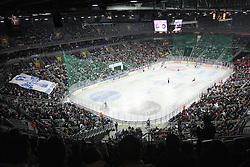 08.01.2012, Arena Zagreb, Zagreb, CRO, EBEL, KHL Medvescak Zagreb vs HK Acroni Jesenice, im Bild Features aus der Halle in Zagreb, Übersicht during ice-hockey match between KHL Medvescak Zagreb and HK Acroni Jesenice in 39th Round of EBEL league, on Januar 8, 2012 at Arena Zagreb, Zagreb, Croatia. EXPA Pictures © 2012, PhotoCredit: EXPA/ NPH/ Pixsell/ Goran Jakus..***** ATTENTION - OUT OF GER, CRO *****