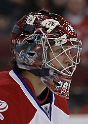 Dec 16, 2009; Newark, NJ, USA; Montreal Canadiens goalie Carey Price (31) during the second period of their game against the New Jersey Devils at the Prudential Center.