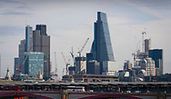 London, England - March 30, 2017: City of London Skyline