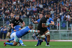November 24, 2018 - Rome, Rome, Italy - Simone Ferrari and Patrick Tuipulotu during the Test Match 2018 between Italy and New Zealand at Stadio Olimpico on November 24, 2018 in Rome, Italy. (Credit Image: © Emmanuele Ciancaglini/NurPhoto via ZUMA Press)